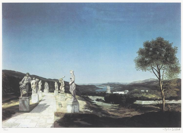 Landscape with seven statues, by Carel Willink