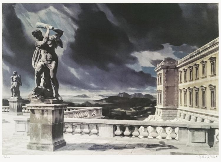 Terrace with Hercules by Carel Willink