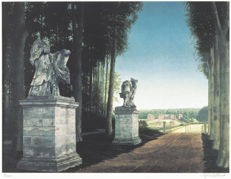 Château Dampierre by Carel Willink, signed by Sylvia