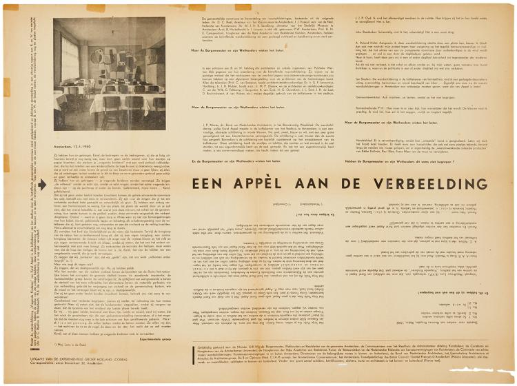 Issued and sent by the Experimentele Groep in 1950