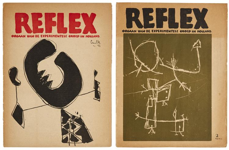Nice complete set of Reflex, periodical of the Experimentele Groep