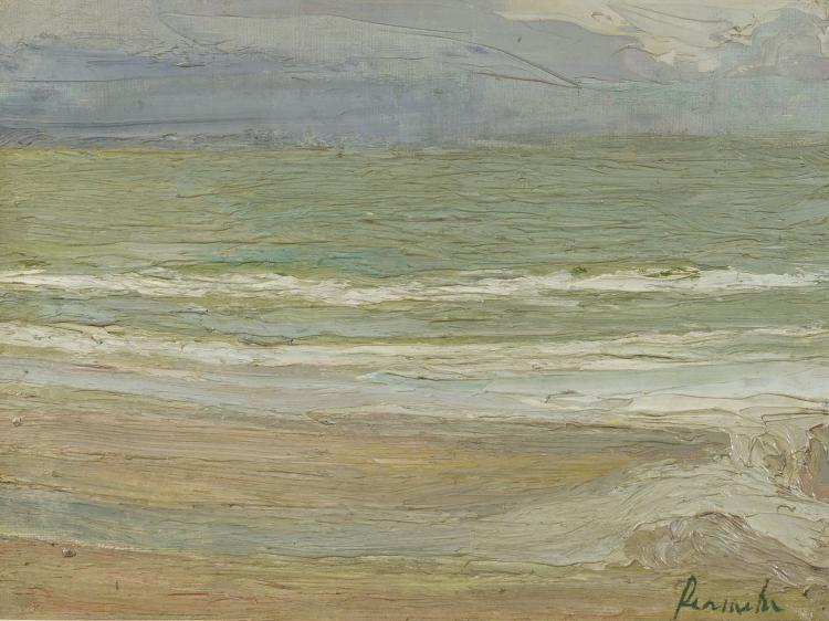 Very fine seascape by Permeke, leading figure of Flemish expressionism