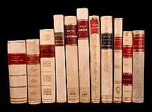 [Bindings]  11 vellum-bound books