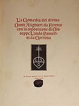 Dante Alighieri.  La Comedia Del Divino Dante Alighieri Da Firenze Con La Esposizione Di Giuseppi Landino Passerini Da Cortona