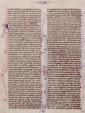 13th c. Manuscript Bible Leaf on Vellum