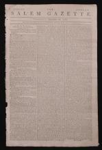 [Revolutionary War]  Salem Gazette, 1782
