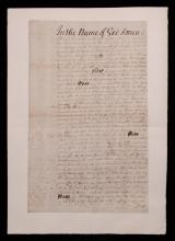 [New York, 1703]  Will Signed by Cornbury