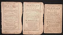 [Group of 3]  Ames, Nathaniel.  Astronomical Diary:  Or, Almanack for... 1742-1744