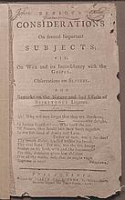 [Early American Imprints]  [Benezet, Anthony].  Serious Considerations on Several Subjects;