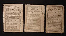 [Group of 3]  Ames, Nathaniel.  Astronomical Diary:  Or, Almanack for... 1751, 1754-1755.