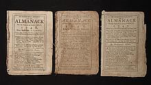 [Group of 3]  Ames, Nathaniel.  Astronomical Diary:  Or, Almanack for... 1747-1749