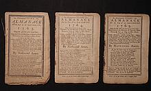 [Group of 3]  Ames, Nathaniel.  Astronomical Diary:  Or, Almanack for... 1763-1765