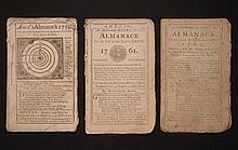 [Group of 3]  Ames, Nathaniel.  Astronomical Diary:  Or, Almanack for... 1759, 1761-1762.