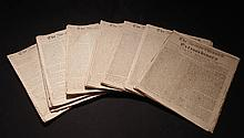 Boston Chronicle, 1768.  Large collection of 38 issues from 1768