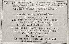 [Benjamin Franklin]  Ames, Nathaniel.  An Astronomical Diary:  or An Almanack for...1771