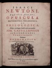 Newton, Isaac.  Opuscula . . .