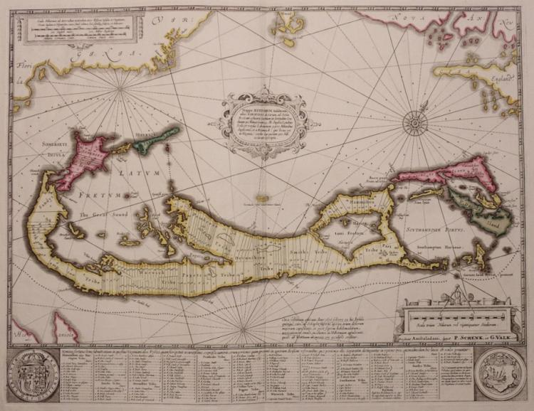 [Map of Bermuda, Schenk and Valk]