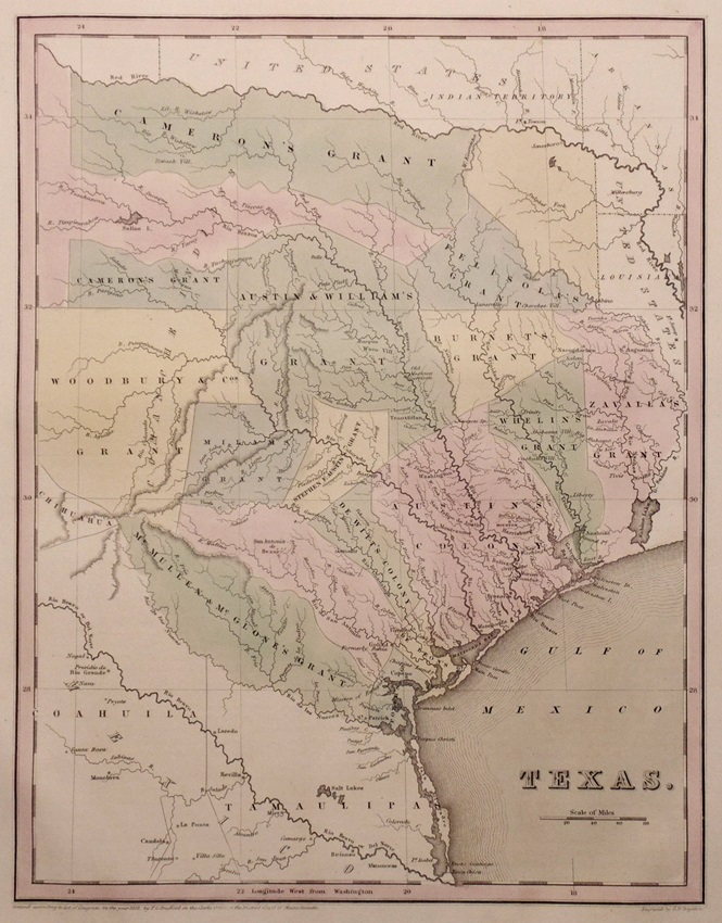 [Map of Texas, Bradford, 1838]