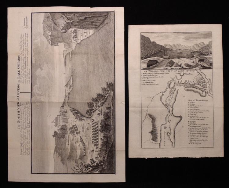 [Plates, Lake Ontario & Lake George, Lot of 2]