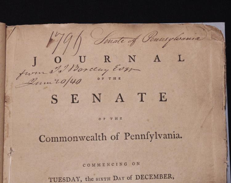 [Pennsylvania, 1796 Senate Journal]
