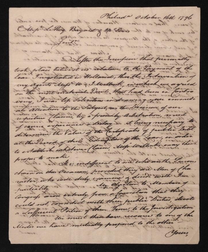 [William Bingham, Continental Congress]