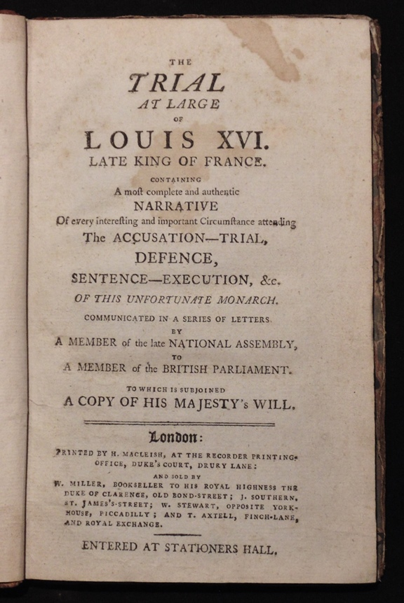 [French Revolution]  The Trial of Louis XVI