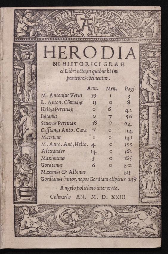 Herodianus.  Historici Graeci Libri Octo