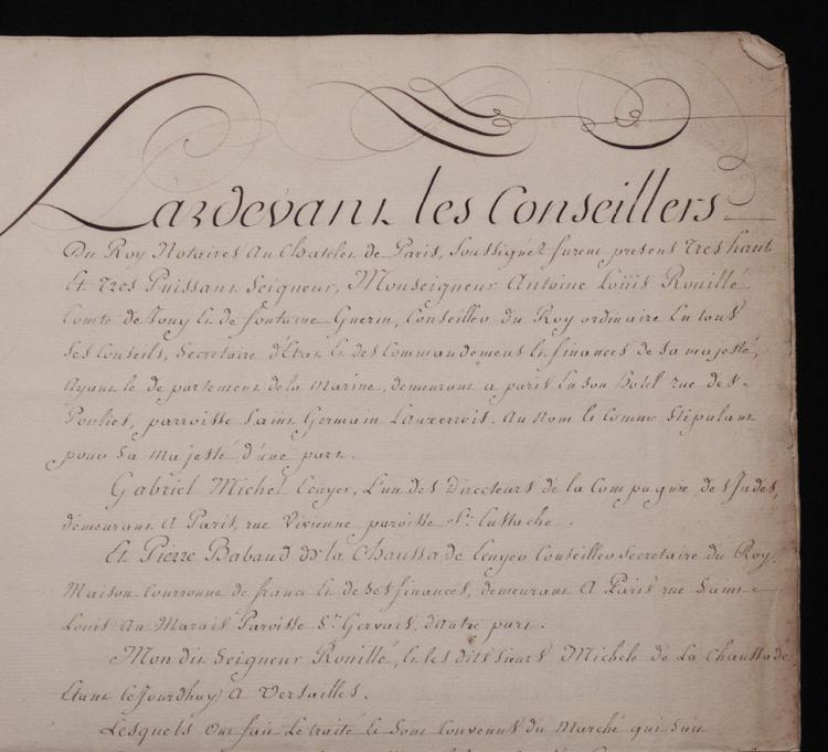 [MS French Naval Contract, 1750]