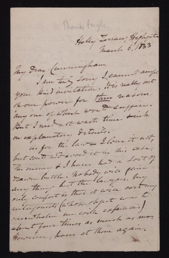 [Manuscript] Thomas Pringle, Slavery