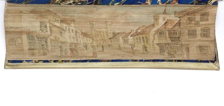 [Fore-Edge Painting]  Poetical Works of Chaucer
