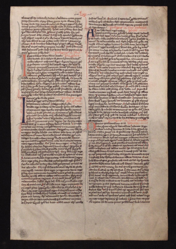 Chudleigh Bible Leaf, 13th Century