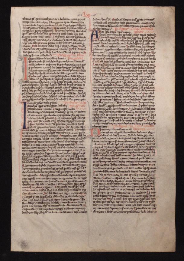 Chudleigh Bible Leaf, 13th Century