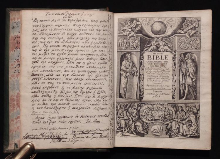 The Holy Bible. John Field, 1648.