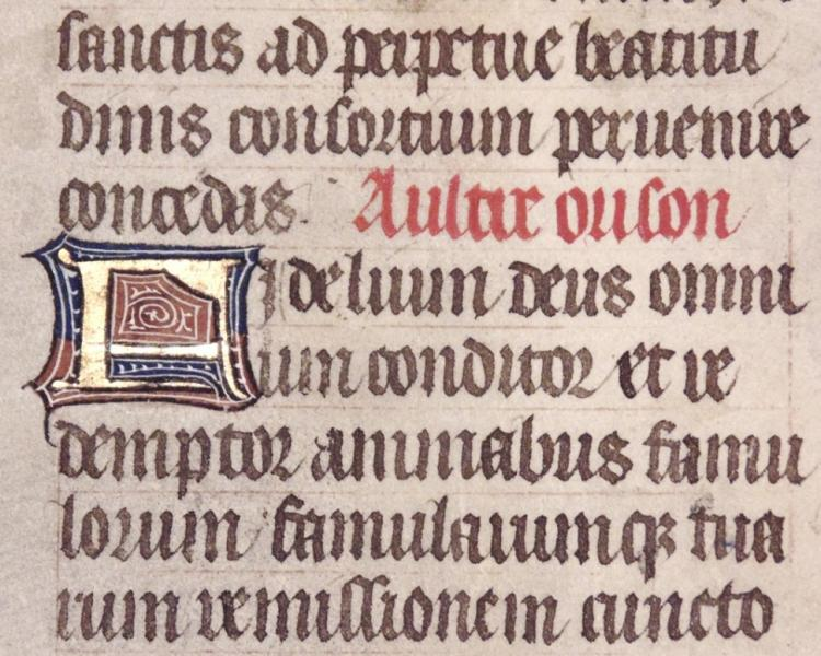 [15th c. Illuminated Manuscript Leaf]