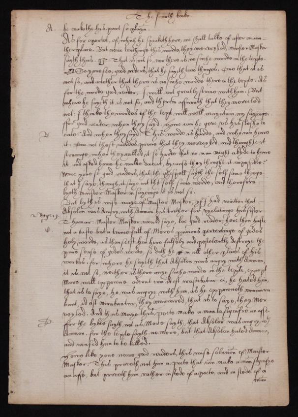 Tudor Manuscript Leaf