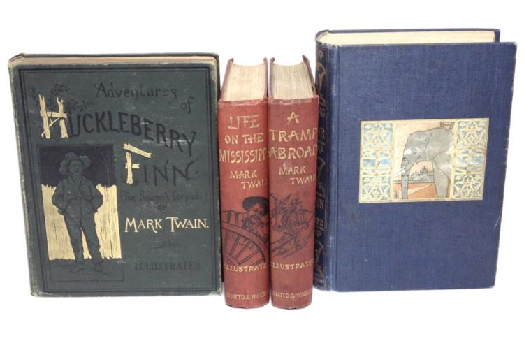 Twain, Mark.  [Lot of 4]