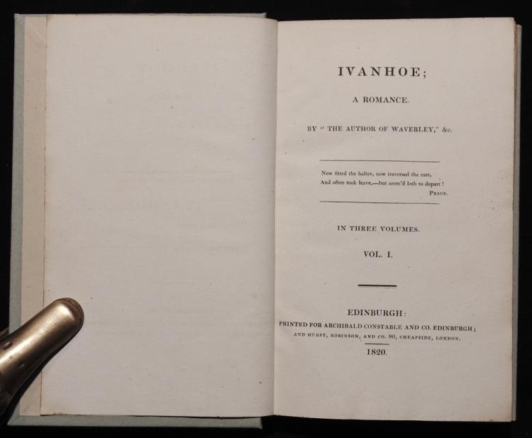 Sir Walter Scott. Ivanhoe.  [1st Ed.]