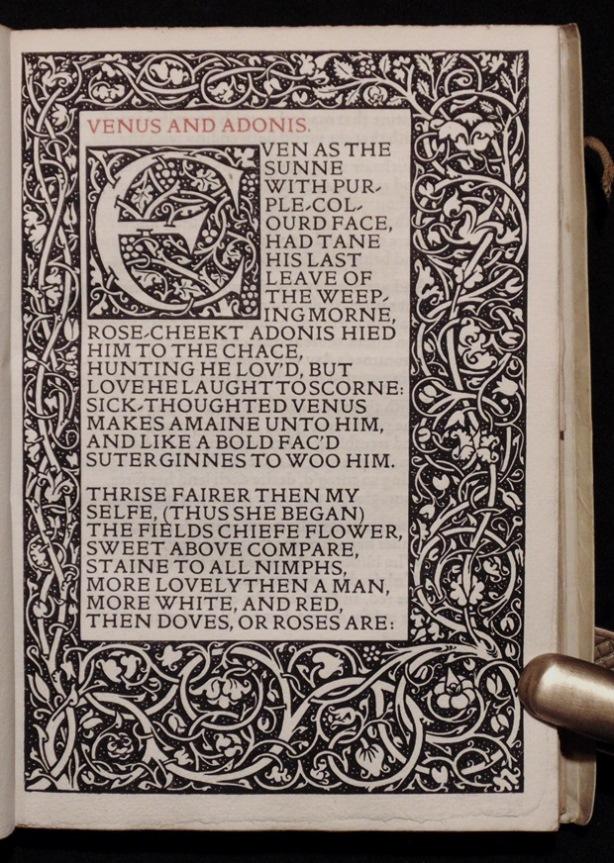 [Kelmscott Press] Shakespeare's Poems