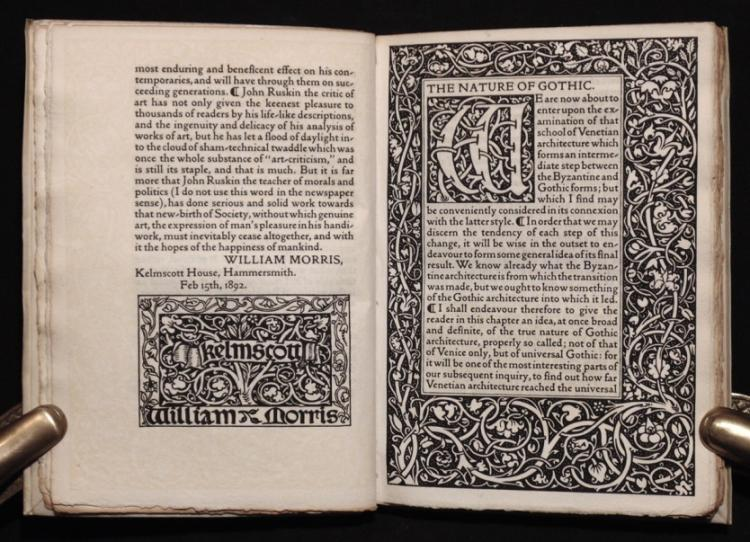 [Kelmscott Press] The Nature of Gothic