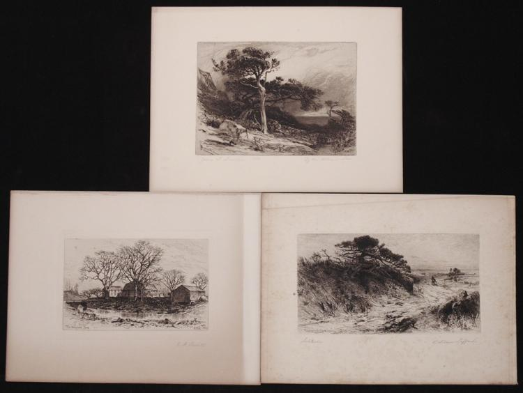 [Lot of 3 Etchings]