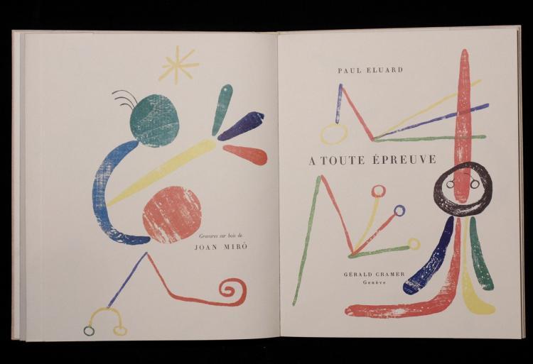 [Joan Miro; Paul Eluard]  A Toute Epreuve