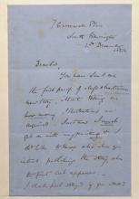 John Everett Millais.  Manuscript signed letter