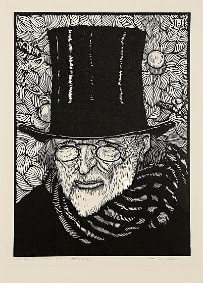 Louis Jou (1881-1968) Mon ami Theuriet. Vers 1925.