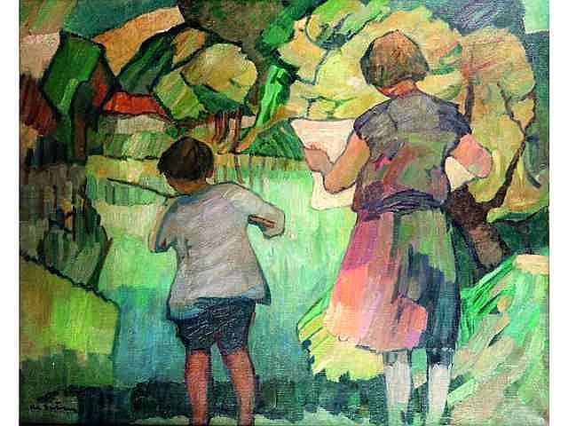* BERTRAM Abel (1871-1954). Le petit pêcheur 3000