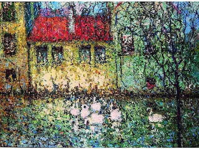 * EKEGARDH Hans (1891-1962). Les cygnes 400 / 500