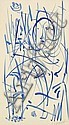 Jean SIGNOVERT (1919-1981) Personnage bleu, Jean Signovert, Click for value