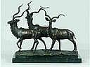 Martin MILO (1893-1970) Trois antilopes.