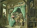 Pieter BARBIERS (Amsterdam 1717 - 1780). Le réveil
