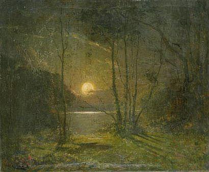 Ernest AZEMA (1871-1917) Bord d'étang au clair de