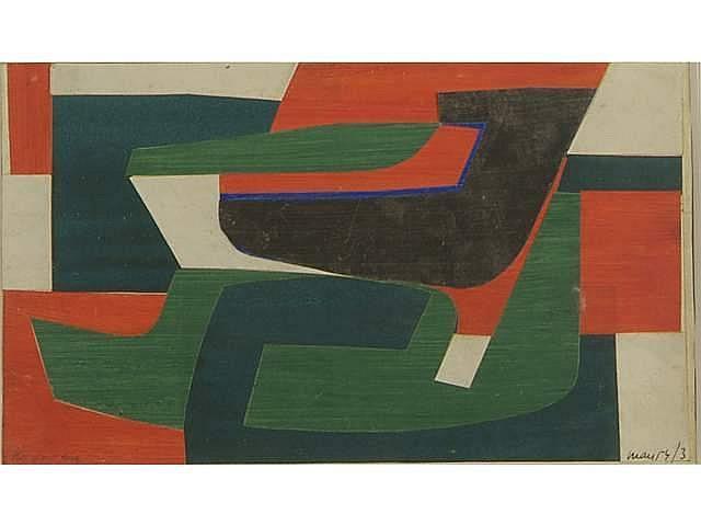 Philippe MORISSON (né en 1924) Composition abstrai